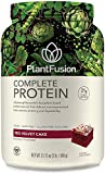 PlantFusion Complete Plant Based Pea Protein Powder, Non-GMO, Vegan, Dairy Free, Gluten Free, Soy Free, Allergy Free w/Digestive Enzymes, Dietary Supplement, Red Velvet, 2 Pound (Pack of 1)