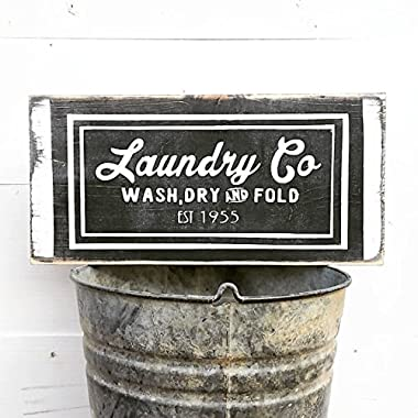 Farmhouse Laundry Decor | Laundry Sign | Laundry Room Decor | Laundry Room Sign | Wash Dry Fold | Laundry Today | Naked Tomorrow | Vintage Wall Hangings