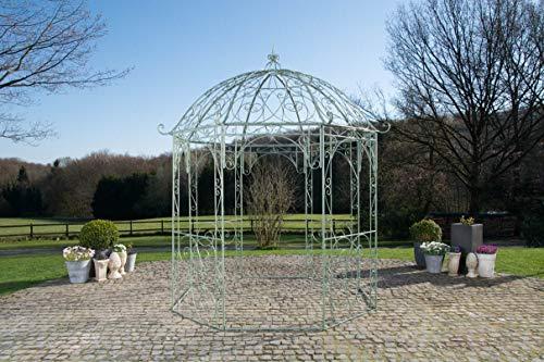 CLP Rosenpavillon Leila I Rankpavillion Aus Pulverbeschichtetem Eisen I Gartendekoration Im Jugendsstil, Farbe:antik-grün