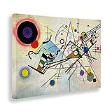 Giallobus - Cuadro - Impresion EN Lienzo - Kandinsky - COMPOSICIÓN N 8-70 x 100 CM