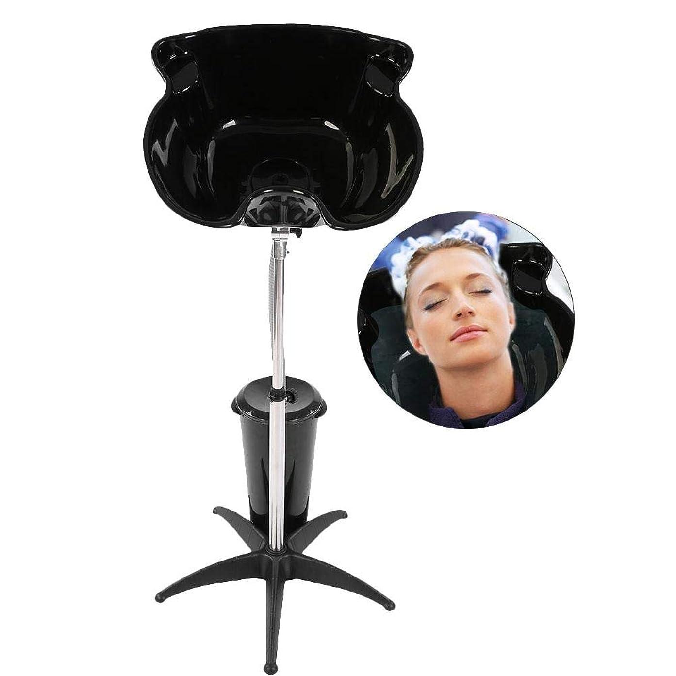 の頭の上つぶやきメッセージ水切り付き洗面器、高さ調節可能ステンレススチール理髪店のシンク