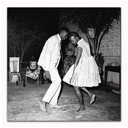 Artiste de danse classique noir blanc Malick Sidibe artiste affiche Art toile maison chambre mur impression décor -60x60 cm sans cadre