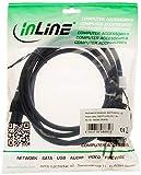 InLine 16656X - Cable AC para portátil (3-Pin, 1,8m), Color Negro