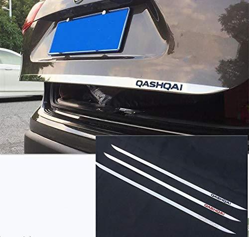 AMJFB ABS Edelstahl Heckklappenaufkleber für Nissan Qashqai J11 2014-2019