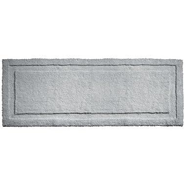 "InterDesign Microfiber Spa Bathroom Accent Rug, 60"" x 21"", Gray"