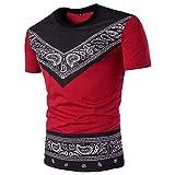 SSBZYES Camisetas para Hombre Camisetas De Manga Corta para Hombre con Cuello Redondo para Hombre Camisetas para Camiseta De Manga Corta con Estampado De Estilo étnico De Marea De Moda para Todos