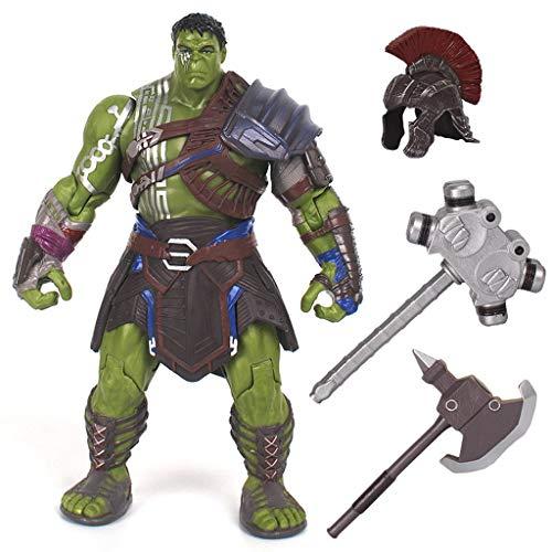 Siyushop Superhéroe Gladiador Figura de acción de Hulk increíble - Equipado con Casco, Martillo, Hacha