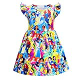 AOVCLKID Little Girls Princess Pajamas Toddler Nightgown Dress Halloween Costumes (Multicolor,130/6 Years)