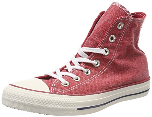 Converse Chuck Taylor CTAS Hi Cotton, Zapatillas de Deporte Unisex Adulto, Rojo (Enamel Red/Enamel Red/White 603), 36 EU