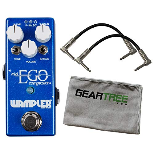 Wampler Mini Ego Compressor Pedal w/ 2 Patch Cables and Polish Cloth