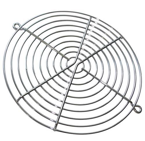 Aerzetix ventilatorrooster, verchroomd, 171 °mm, voor ventilator, PC-behuizing, PC, C42220, 2 stuks