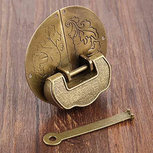 CHYSP Muebles Antiguos Conjunto de Hardware Portaje Latch Paste Hebilla Cierre de Hebilla Decorativa China Antigua Cerradura de candado para joyería Caja de Madera