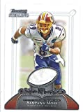 SANTANA MOSS 2006 Bowman Sterling #SMO GAME-WORN Pro Bowl JERSEY Card Washington Redskins Football