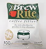 Brew Rite Disc Style 3' 3 1/2' Coffee Filters 300 Count For Percolator & Drip Coffeemakers