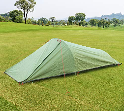Fltom-Single-Person-Camping-Tent-One-Person-Lightweight-Bivy-Tent-with-Net-Mesh-for-Hiking-Mountaineering-Backpacking-Travel