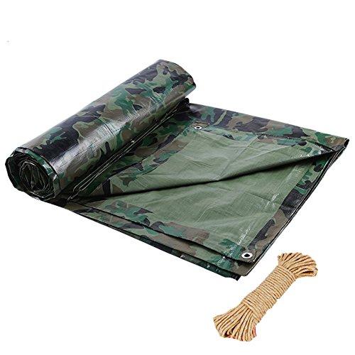 LIANGJUN Dekzeil Waterdicht Heavy Duty Polyethyleen Dubbelzijdig Waterdichte Zonwerende Luifel Buiten, 100 G/m2, 9 Maten Camouflage