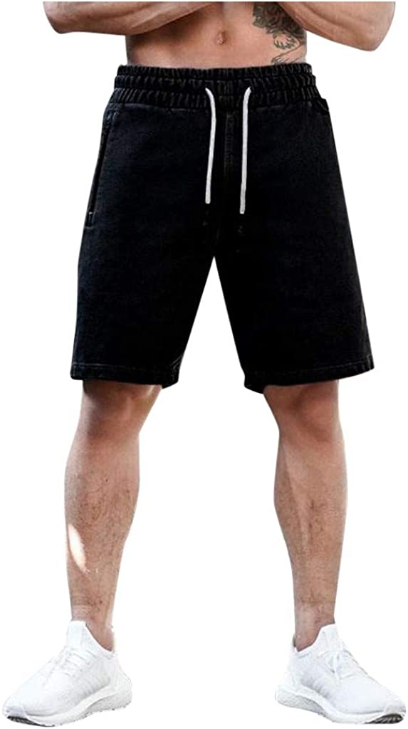 MODOQO Men's Summer Solid Color Casual Loose Training Sports Fitness Shorts