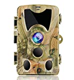 SUNTEKCAM 24MP Wildlife Camera 1080P HD Trail Camera with Infrared Night Vision up to 65ft/20m IP66 Spray Waterproof for Outdoor Nature, Garden, Home Security Surveillance