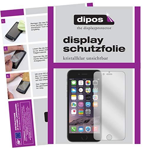 dipos I 6X Schutzfolie klar kompatibel mit Apple iPhone 6S Folie Bildschirmschutzfolie