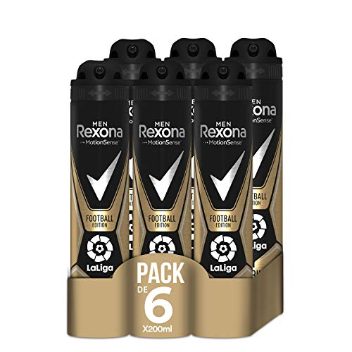 Rexona Desodorante Antitranspirante Football Edition Laliga 200ml - Pack de 6: 1200ml