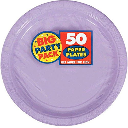 Lavender Big Party Pack Paper Plates | 7' | Pack of 50 | Party Supply