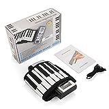 VGEBY1 Tragbares aufrollbares Klavier, 61 Tasten elektronische weiche Klaviertastatur Handrollende Tastatur für Kinderanfänger