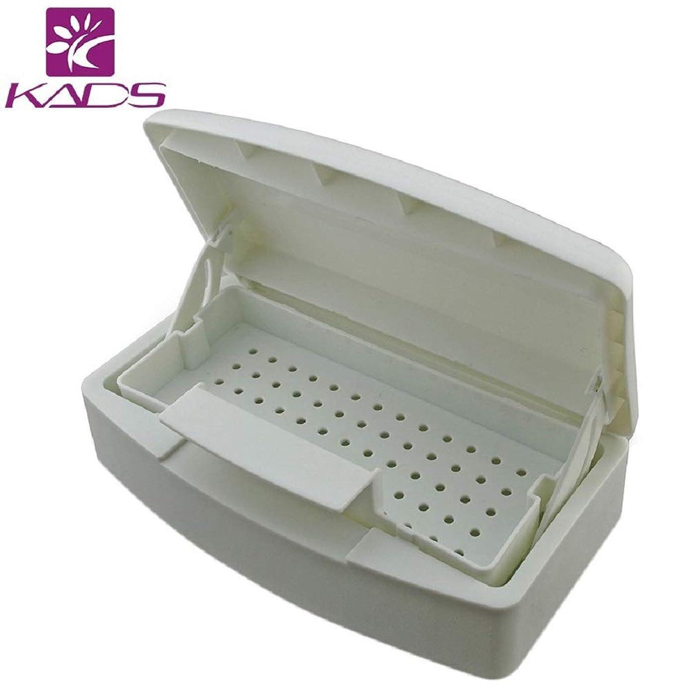 策定する取り扱い縫うKADSネイルアートツールアルコール滅菌ボックス マニキュアツール消毒用容器 ネイルツール滅菌トレイ 滅菌ボックス