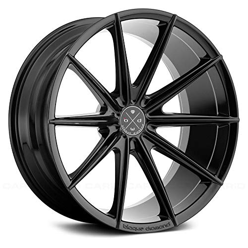 Blaque Diamond BD-11 Gloss Black Wheel with Painted Finish (24 x 10. inches /5 x 120 mm, 30 mm Offset)