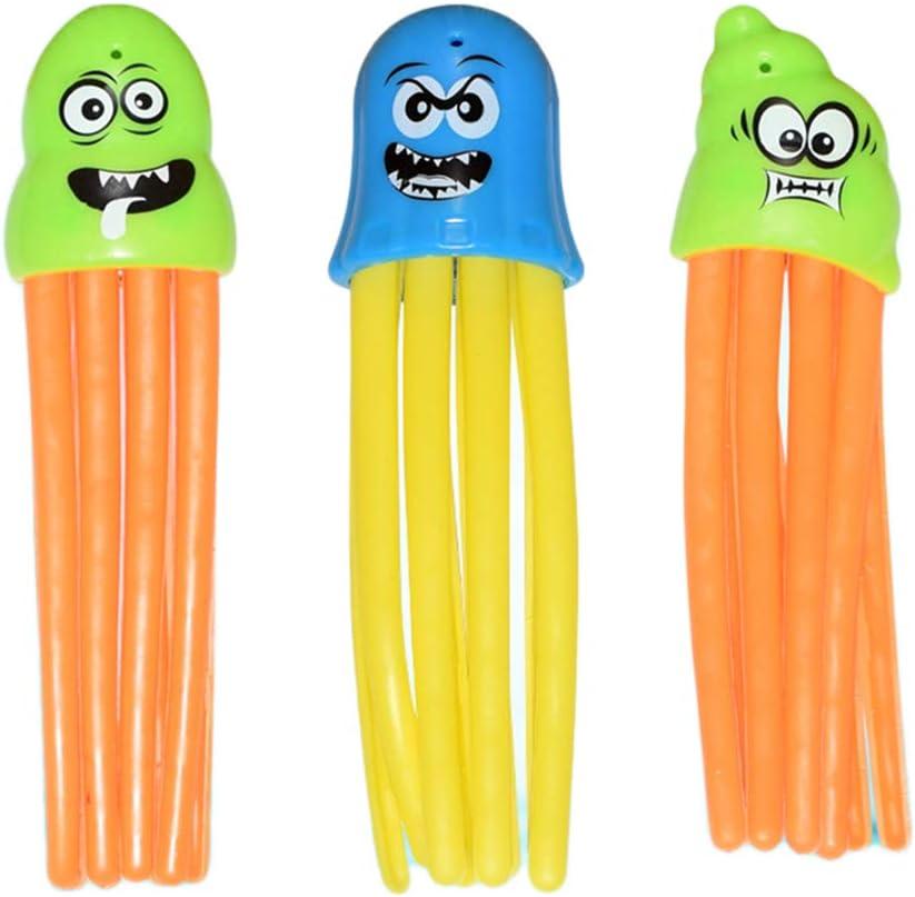Allsmart Juguetes de pulpo de piscina, juguetes de buceo de 3 piezas, juguetes divertidos de baño de ducha de cara para niños