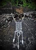 Fenrir Wolves Ethnic statement necklace in Celtic Viking Scandinavian Nordic Scythian medieval style FREE SHIPPING silver-plated handcrafted wolf Fenrir Fenrisúlfr Hróðvitnir Vánagandr game of thrones
