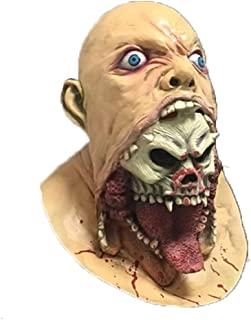 LUHUAISH AU Halloween Horror Grimace Mask Bloody Big Devouring Haunted House Secret Room Mask Headpiece Props