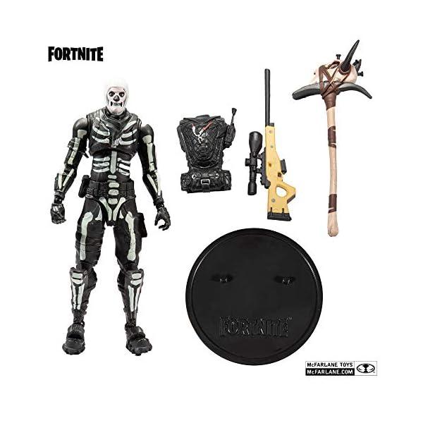 Fortnite - Figura articulada Skull Trooper 18cm 3