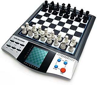 – iCore Magnet Chess Sets Board Game, Electronics Travel Talking Checkers Master Pro 8 in 1, Portable Chessboard Tournament for Kids and Adults