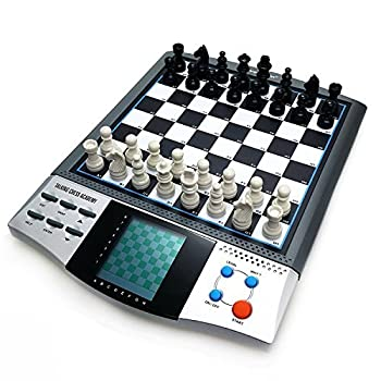 iCore Magnet Chess Sets Board Game Electronics Travel Talking Checkers Master Pro 8 in 1 Portable Chessboard Tournament for Kids and Adults