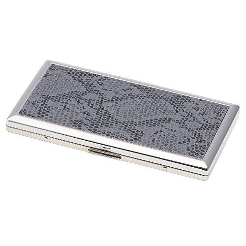 坪田パール タバコ ケース ロングサイズ(100mm) スリムサイズ7本収納/レギュラー6本収納 日本製 スネークパターン 1-18912-14