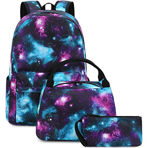 MUOOUM Galaxy Animal Eagle Backpack Casual Daypack School College Travel Bag for Teens Boys Girls