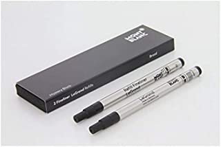 montblanc refill Legrand 2 X 1 Pacific Blue Mystery black 114835 114834 Fineliner B Broad for pen (Mystery Black)