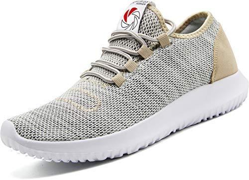 CAMVAVSR Mens Summer Work Shoes Slip Resistant Shoes for Men Stylish Mens Casual Shoes Comfortable Soft Sole Workout Gym Shoes for Men Gold Size 9.5 Cross Flat Shoes