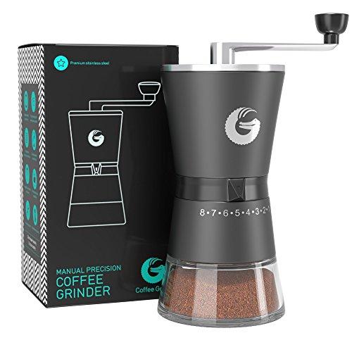 Coffee Gator Moulin à café manuel haut de gamme en inox — Precision Burr Grinder