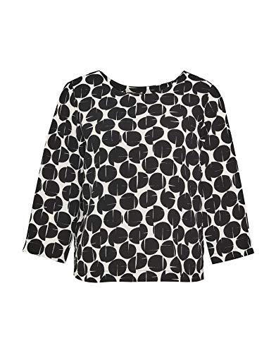 OPUS Damen Falesha Clear Bluse, Black, 40