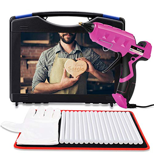 Hot Glue Gun Kit with Glue Sticks (20 PCS) High Temp Glue Gun 100W Full Size (Big Package)