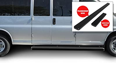 APS iBoard Running Boards 6 inches Matte Black Custom Fit 2003-2020 Chevy Express GMC Savana 1500 2500 3500 Full Size Van (Nerf Bars Side Steps Side Bars)