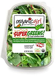 Organic Girl, Salad Super Greens Clam Organic, 5 ounce