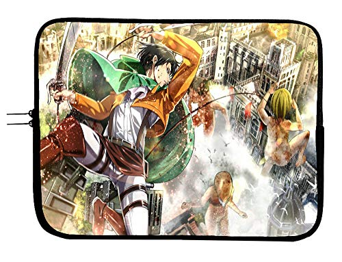 Brand3 Anime Attack on Titan Laptop Sleeve Bag Notebook Case 13 13.3 'MacBook Pro/MacBook Air Surface Pro portátil/Tablet impermeable neopreno acolchado caso