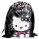 Hello Kitty Black Large Gym Bag