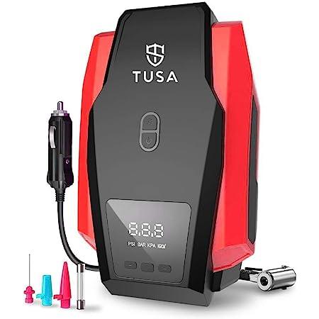 TUSA Digital Car Tyre Inflator - 12V DC Portable Air Compressor with LED Light (1+1 Year Warranty)