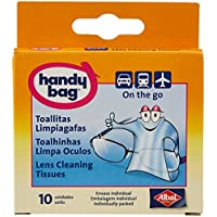 Handy Bag - Toallitas limpiagafas - Envase individual - 10 unidades - [paquete de 3]