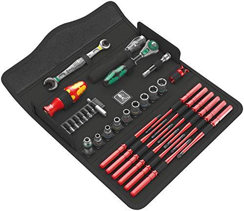 Wera 05135926001 Juego de herramientas de mantenimiento, W1, 35 piezas, Negro