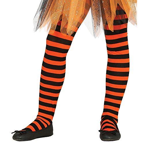 Guirca- Panty con rayas, Multicolor, 7-9 años (17221)