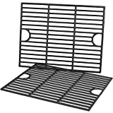 SHINESTAR Grill Grates Replacement for Nexgrill 4 Burner 720-0830H 720-0783E, 5 Burner 720-0888N, Porcelain-enameled Cast Iron, 17 X 13 1/4 inch, Set of 2